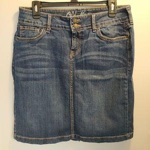 Old Navy blue jean skirt